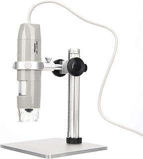 المجهر القياسي بالقرب من التركيز 8 أضواء LED بيضاء 5MP 500X واجهة USB للمختبر للداخلية مع دعم قوس الرفع