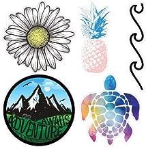 AArtTM Super Cute Ocean Vinyl Decal Stickers, Cute Ocean Beach Vinyl Stickers, Vinyl Decal Stickers, Laptop Ocean Beach Decals, Water Bottle Stickers Multi Pack (Ocean)