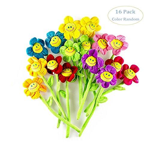 Hangnuo peluche Flores de sol con carita sonriente