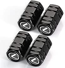 4 Pcs Metal Car Wheel Tire Valve Stem Caps for Lexus RX350 UX200 NX300 IS300 ES350 GS350 GX460 LX570 RC300 LC500 Logo Decoration Styling Accessory。
