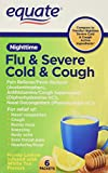 Equate Nighttime Flu and Severe Cold and Cough 6 packets Compare to Theraflu Severe Cold and Cough Nighttime