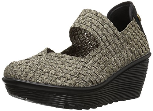 Bernie Mev Womens Lulia Casual Wedge Shoes,Bronze,38