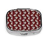 Caja de pastillas cuadrada Organizador Titular de viaje Pastilla Vitamina Caja decorativa Titular de caja West Highland Terrier D