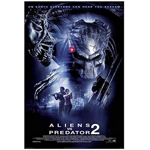 DOAQTE Avpr Aliens Vs Predator Requiem Película Arte de la Pared Impresiones en Lienzo Carteles Impresos en Lienzo para Pintura de decoración de habitación -20X30 Pulgadas Sin Marco 1 Pieza
