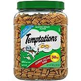TEMPTATIONS Classic Crunchy and Soft Cat Treats Seafood Medley Flavor, 30 Oz. Tub