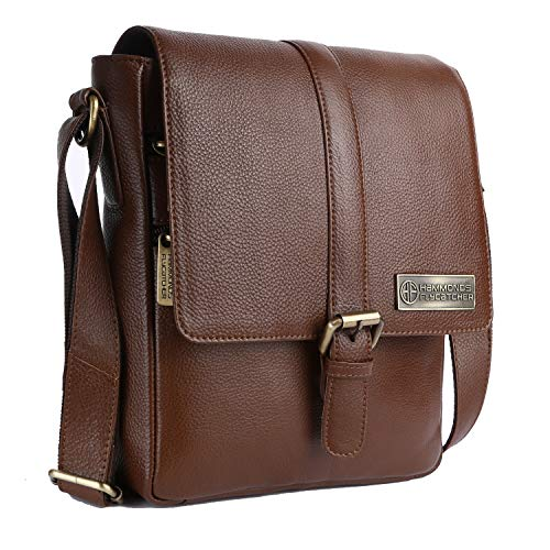 Hammonds Flycatcher Original Bombay Brown Leather Sling Bag (L:23,H:26, B:6.5 cm) SB1164MH