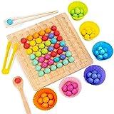 xiaomomo521 Wooden Go Spiel, Perlenspielzeug, Set Dots Shuttle Perlen, Konzentrationsschulung Lernhilfe FüR Kinder, Geschenk FüR Jungen Und MäDchen A