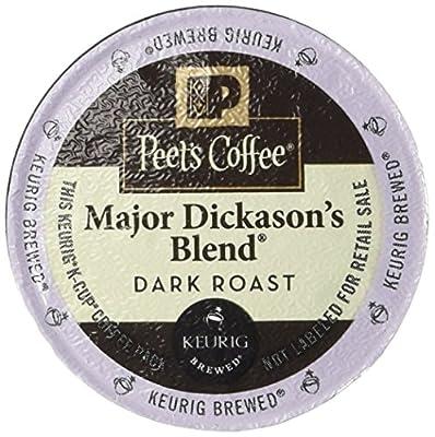 Peet's Coffee Major Dickason's Blend DRAK ROAST, Rich, Complex, Full Bodied 60 K-Cup