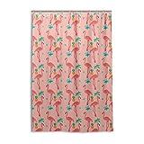 MONTOJ Flamingo mit Girlande Patten Home Decor Duschvorhang Stoff Badezimmer Decor Set mit Haken, langlebig & super wasserdicht 121,9 x 182,9 cm