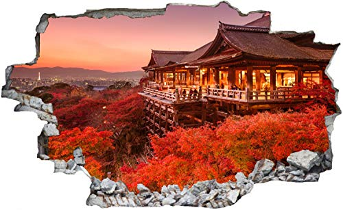 Buddhistischer Tempel Buddha Japan Wandtattoo Wandsticker Wandaufkleber C0790 Größe 100 cm x 150 cm