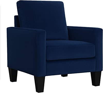 AC Pacific Ally Mid-Century Arm Chair, Blue