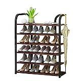 FCXBQ Étagère de Rangement pour chaussuress Étagère à Plantes Verticale 80 cm de Large Organisateur Cadre en Fer Noir +...