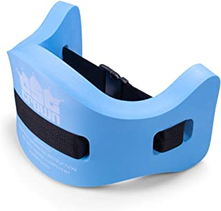 Aqua Fitness Exercise Belt | Foam Flotation Equipment for Low Impact Water Aerobics & Swimming Pool Resistance Workout | Adjustable Accessory Strap for Adult or Child