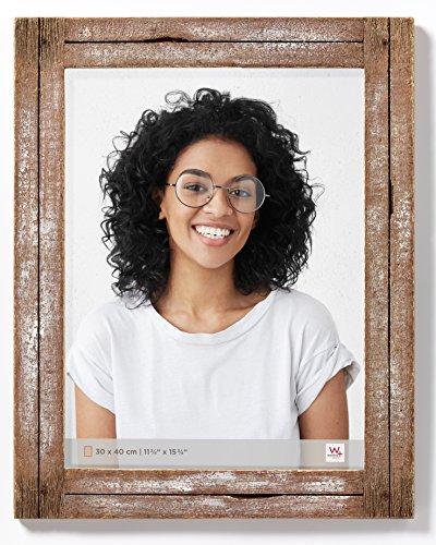 walther design Dupla Portraitrahmen 30x40 cm, weiß/natur