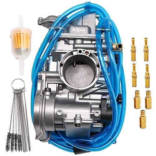 KIPA Carburetor For Kawasaki KX250F 2004-2010 Honda CRF250R 2004-2005 CRF250X 2004-2013 Husqvarna TC250 2002-2016 TCI250 FCR 38mm FCR38 Flat side Performance