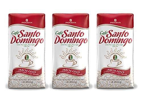 Santo Domingo Coffee, 16 oz Bag - 3Pack, Ground Coffee - Product from the Dominican Republic