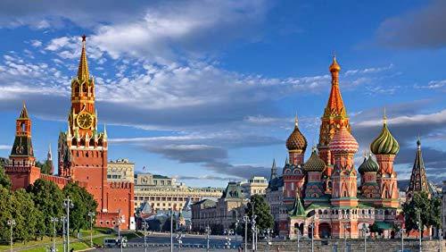 1000 Piezas de Rompecabezas para Adultos, difíciles y desafiantes, Castillo de Moscú Adecuado para Familiares y Amigos