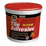 Everbuild FIX02 Fix and Grout 703 - Colla per piastrelle, 2,5 l, 3,75 kg