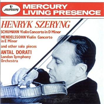 Schumann: Violin Concerto / Mendelssohn: Violin Concerto etc