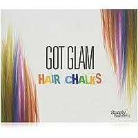 Got Glam- Juego de tizas para el pelo para niños y adolescentes - 24 tizas para teñido temporal, perfecto para Halloween, fiestas y mucho más
