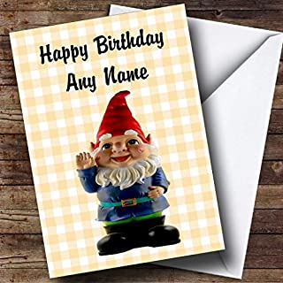 Cute Smiling Gnome Personalised Birthday