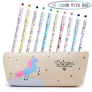 Bolígrafos de para niñas, regalo de cumpleaños escolar, juego de bolígrafos de para escribir con tinta negra suave para…