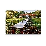 Premium Textil-Leinwand 45 x 30 cm Quer-Format Gut Landegge | Wandbild, HD-Bild auf Keilrahmen, Fertigbild auf hochwertigem Vlies, Leinwanddruck von Heinz Wösten