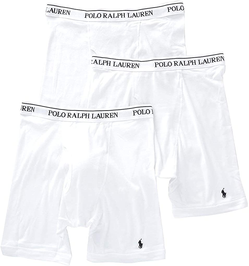 Polo Ralph Lauren Men's Classic Fit w/Wicking 3-Pack Long Leg Boxer Briefs