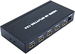 VeeCome Mini portable 4 Port HDMI 1x4 Powered Splitter Ver 1.3 Full HD 1080P with HDCP Support, Deep Color, HD Audio