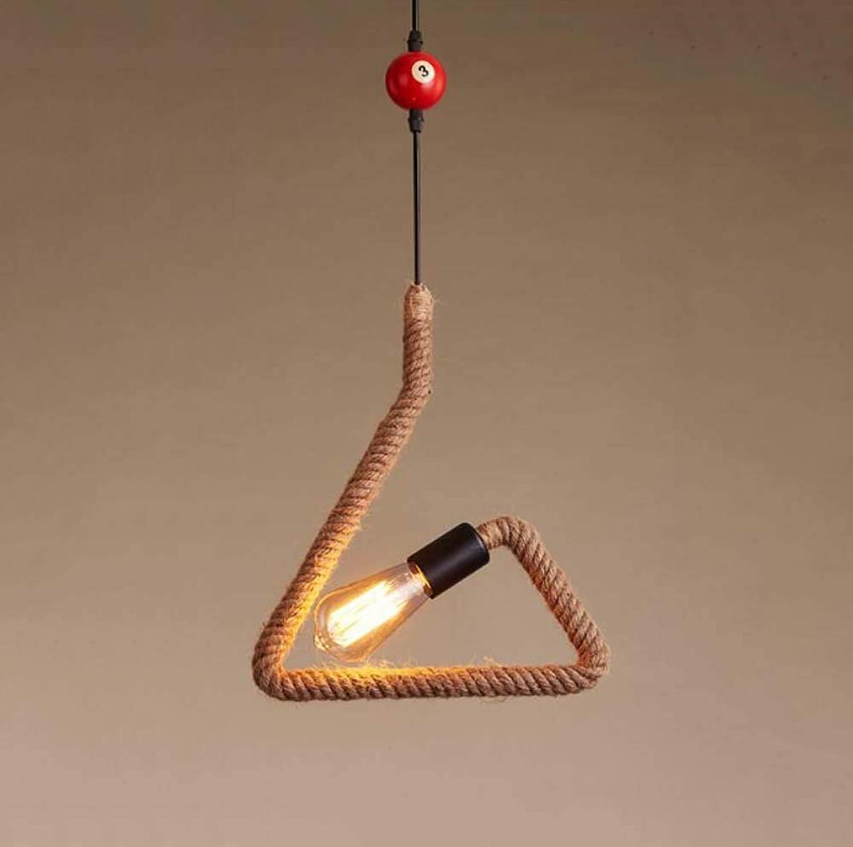 Chandelier de Corde de Chanvre Antique Lampe de Suspension, Lustre de Style Industriel Personnalité Créative Loft Lampe de Suspension, Salle à Manger Café Bar Table Magasin de VêteHommests Table de