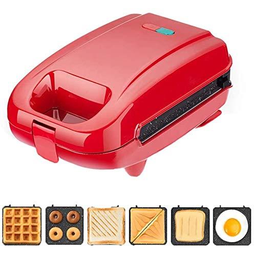 CHENMAO Máquina de sándwich Máquina de Desayuno multifunción Máquina de Toastie Maker, con fácil Limpieza, 6 manijas táctiles sin paletas, adecuadas para Fiestas Familiares