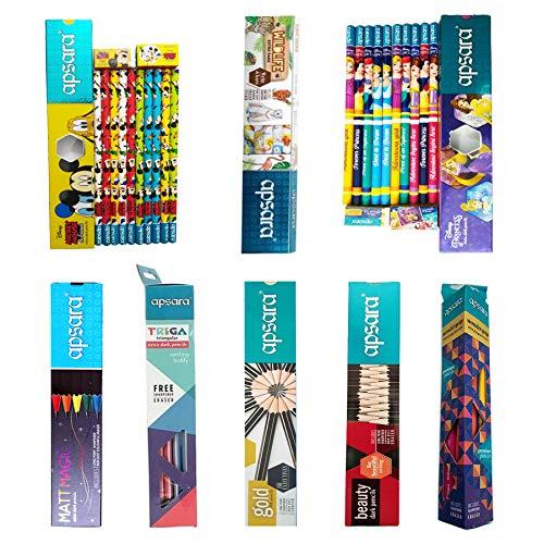 Apsara 10 Disney Princess, 10 Mickey Mouse and Friends and 10 Wonder Grip Extra Dark Pencils with 10 Matt Magic Pencils and 10...