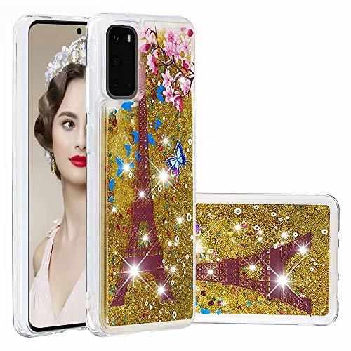 Carcasa para iPhone 12 de 6,1 pulgadas con purpurina, para iPhone 12 de 6,1 pulgadas, ultrafina, de silicona Torre de hierro. iPhone 12 6.1 Zoll