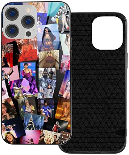 Secutoryang Rapper Cardi B Case for iPhone 12 Mini Pro Max Glass Phone Case Tempered Protective Case Ip12 for Men Women