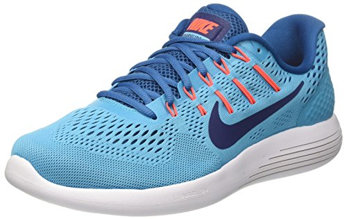 Nike Herren Lunarglide 8 Laufschuhe, Türkis (Chlorine Blue/Binary Blue/Industrial Blue/Hyper Orange/White), 46 EU