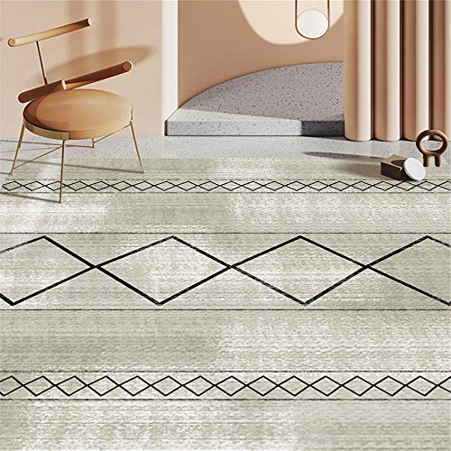 Kunsen Chair Mat For Carpet Striped printed soft and warm bedroom carpet is easy to take care of Rugs Small Carpet For Living Room grey 200X300CM
