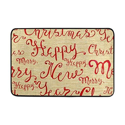 GDESFR Felpudo Carpet Merry Christmas Happy New Year