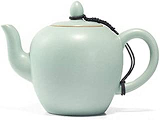 True Pot Ru Kiln Celadon Zisha Ceramics Arts Tay Thi tea set China Teapot Porcelain yixing Clay Antique Teapot,Ivory