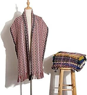 WUNONG-AU Fashion Travel Warm Shawl Women Winter Gradient Ethnic Wind Scarf (Color : Pink, Size : 196 x 56 m)