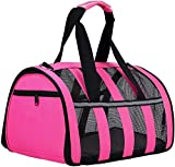 <span class='highlight'><span class='highlight'>ITODA</span></span> Pet Travel Carrier Crate Lightweight Breathable Fabric Soft Sided Shoulder Bags Portable Folding Dog Shoulder Travel Bags Comfort Expandable Travel Car Carriers for Small Dogs Cats and Puppies