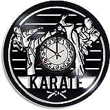 xiaoxong658 Reloj De Pared De Vinilo Deportivo De Karate Artes Marciales Taekwondo Taekwondo Signature Karate Karate Decoración De Interiores Reloj De Vinilo De Artes Marciales 30 × 30Cm