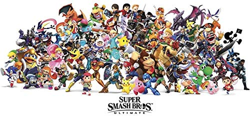 Super Smash Bros Ultimate Character Video Game Poster Size12x18 pulgadas Rolled Poster