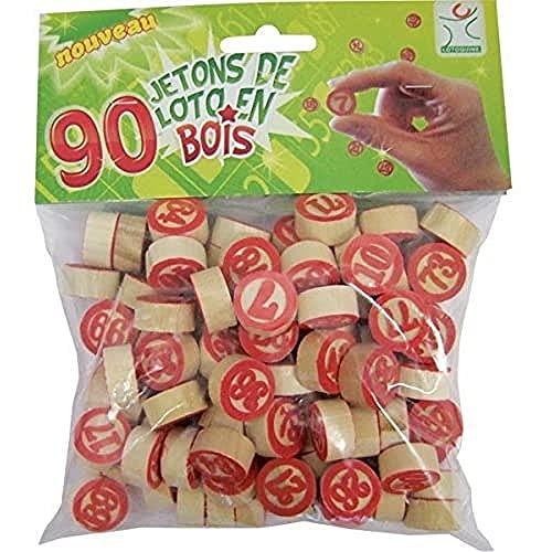 90 gettoni numerati di legno Tombola   Bingo