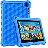 Fire HD 8 2020 Case,Fire HD 8 Plus Tablet Case(10th Generation, 2020 Release),DiHines Lightweight Kids-Proof Case for Amazon Kindle Fire HD 8 Tablet/Fire HD 8 Plus,Blue