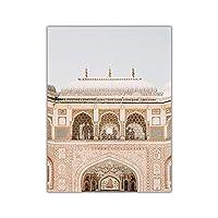 キャンバスプリントウォールアート画像キャンバスペインティングプラントリーフビーチウォールアートプリントアーキテクチャ画像北欧の風景ヴィンテージポスター家の装飾-E_30X40Cm_No_Frame