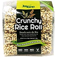 6-Pack Jayone Crunchy Rice Rolls, Black Pearl/White Rice, 3.5 Oz