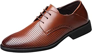 XUANXAI Chaussures à lacets pour hommes Sandales d'été Chaussures de ville