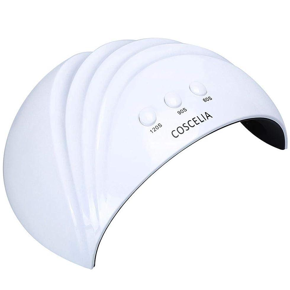 聴覚障害者メロン机ネイルドライヤーネイルドライヤー24W UV LEDネイルランプ60秒/ 90秒/ 120秒硬化用UVネイルジェルランプネイルアートマニキュアツール、写真の色