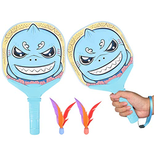 Fansport Paddle Ball Game Set Creative Cartoon Paddle Birdies Racket Game Set for Kids