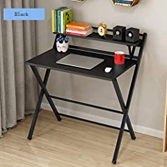 💕 Modern minimalism: This family desk created by a professional designer has a simple aesthetic. Two forms to meet different office needs. 💕 Rugged: The desk with shelf is made of high quality particleboard and steel frame, very stable and can be use...